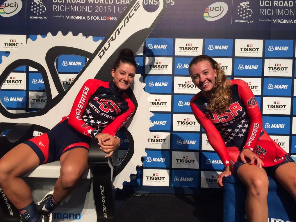 Dygert y White en los 'hot seats'. Foto: © USA Cycling