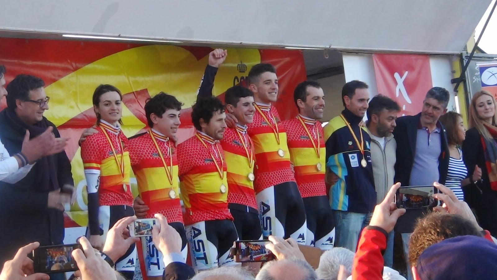Asturias en el podio el año pasado. Foto © EC Peña Manzanillo