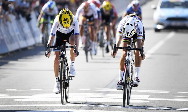 Her painful 2nd in Flanders this year. Pic Yorick Jansens/AFP/Getty Images