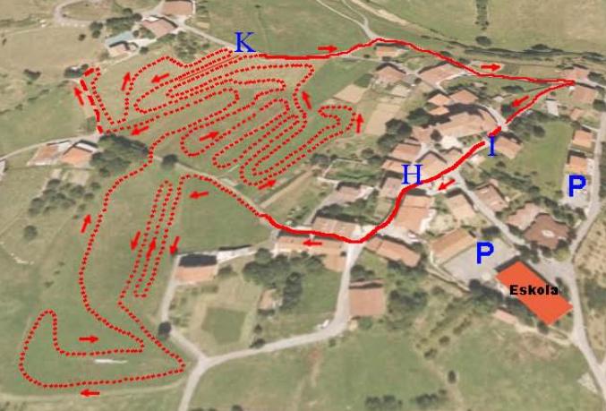 Circuito de la segunda prueba de la Challenge de Euskadi en Asteasu