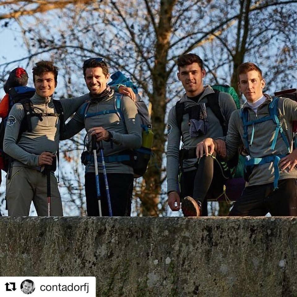 Este año Diego y sus compañeros pudieron disfrutar de la vivencia de hacer el Camino de Santiago, una gran manera de hacer grupo (Foto: contadorfj )
