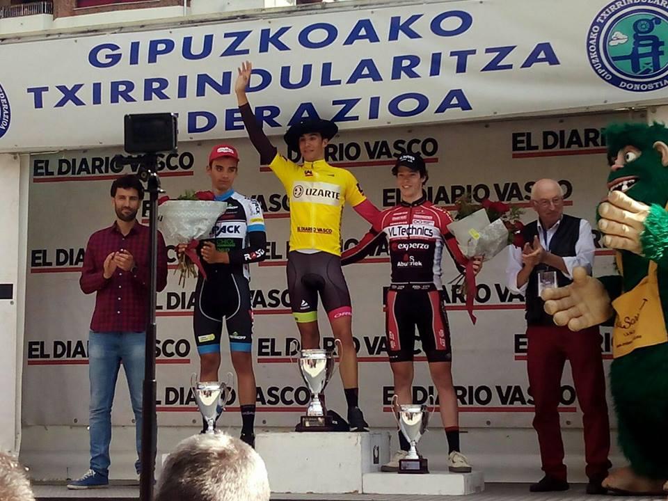 """Sergi Samitier sí subió a lo más alto del podium en Bidasoa (Foto: Facebook """"Sergio Samitier Samitier"""")"""