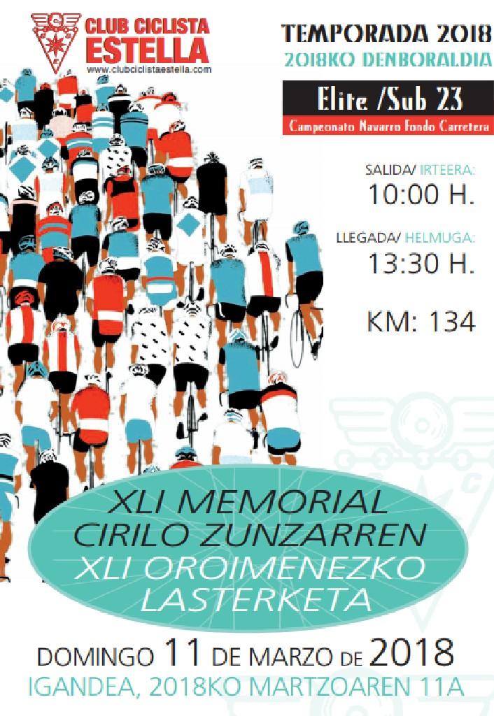 Cartel Memorial Cirilo Zunzarren