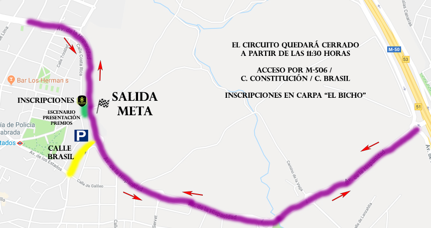 Mapa Campeonato El Bicho 2019