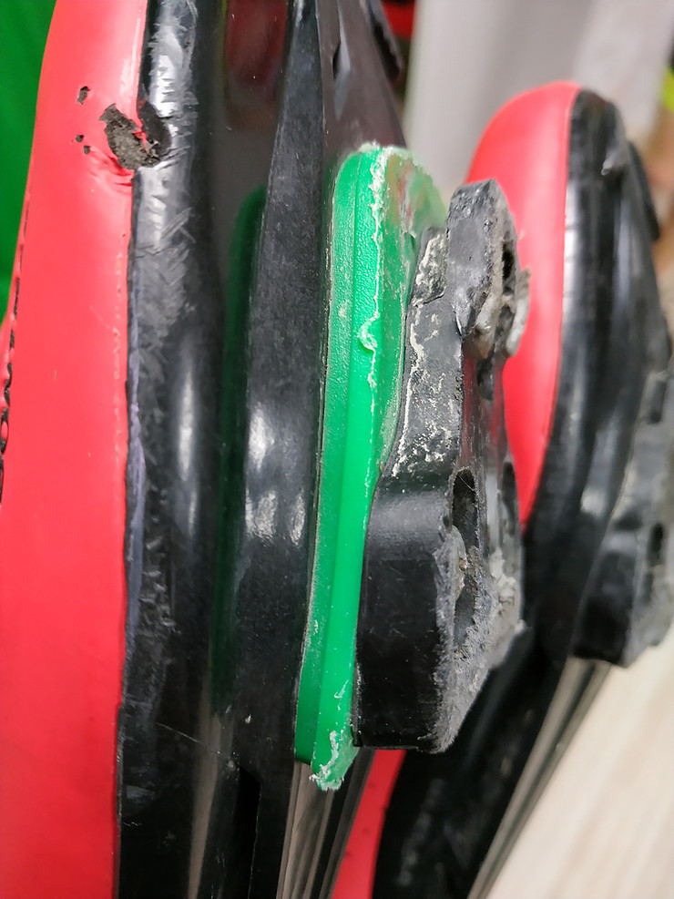cuñas alzas ciclismo
