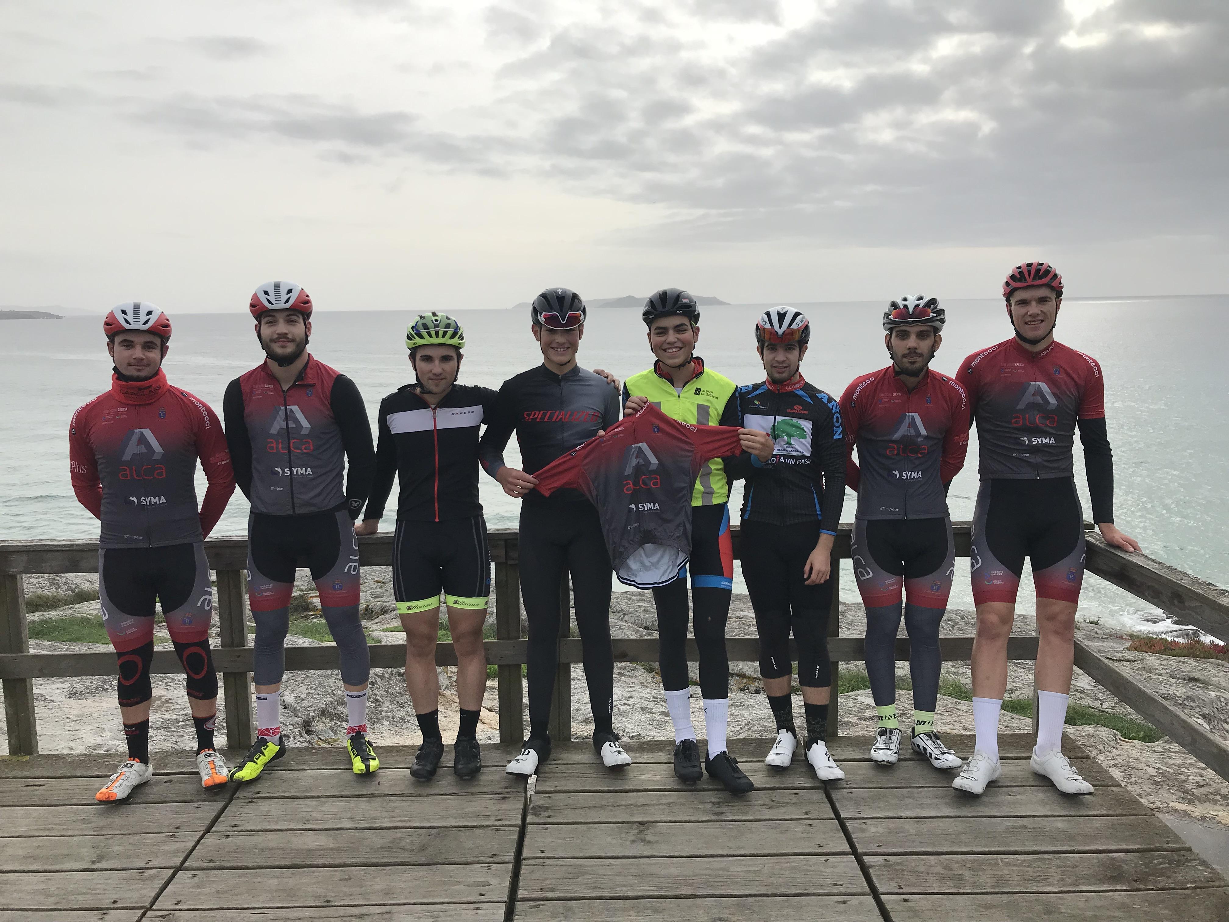 Concentración Teal Cycling Galicia Aluninios Alca