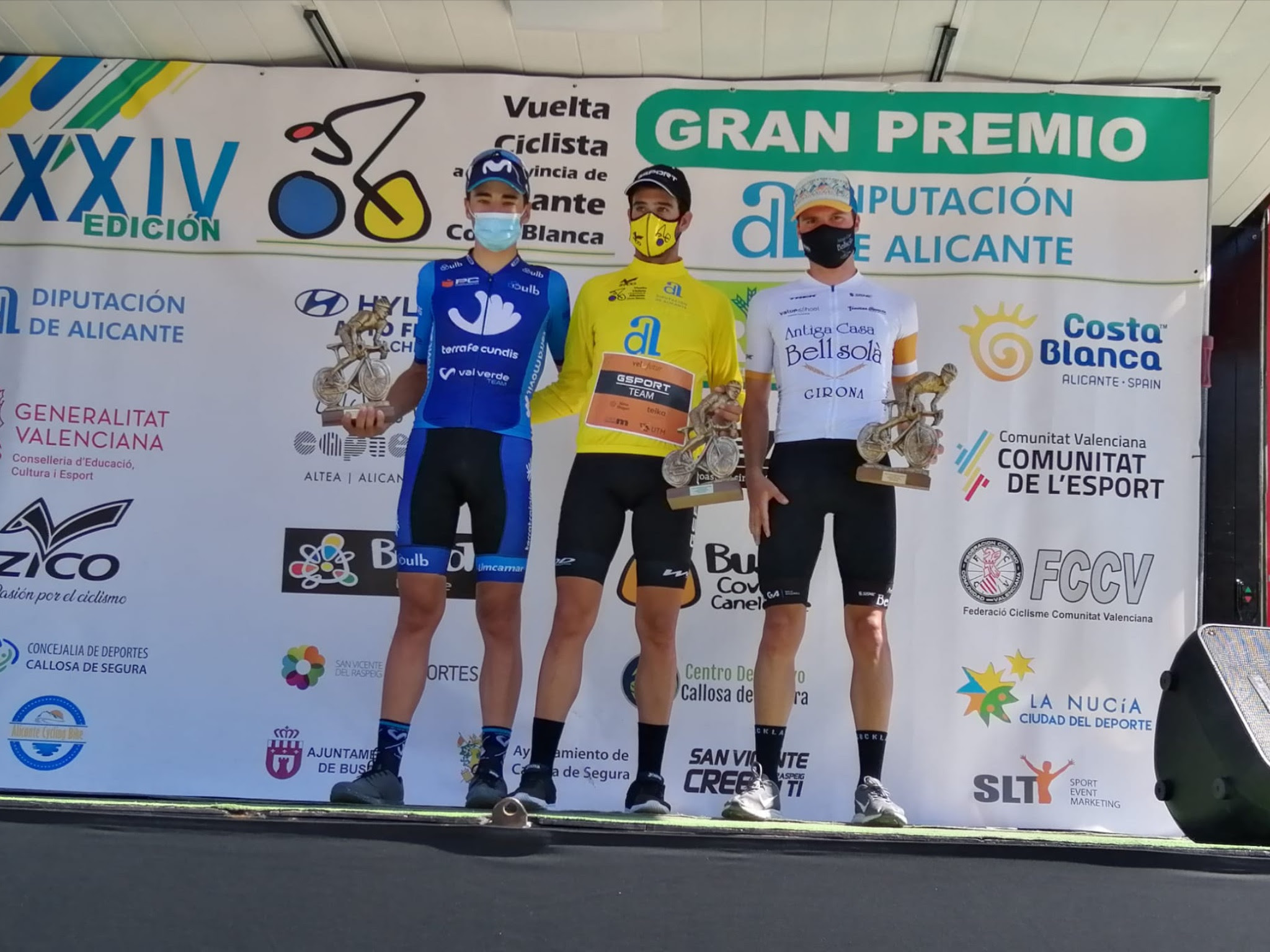 Podium Vuelta Alicante 2020