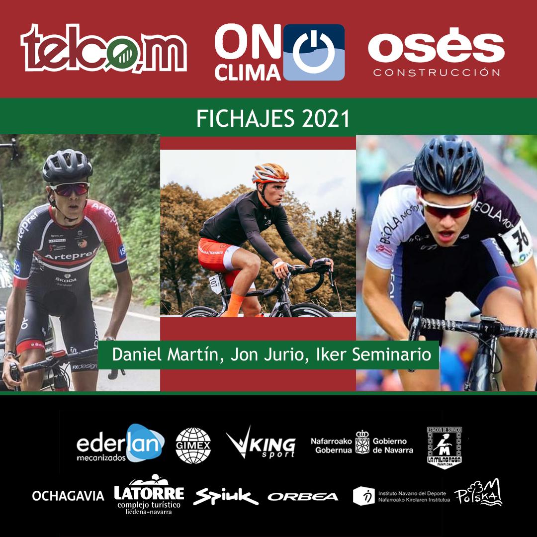 Tres juniors Telco,m On Clima Osés