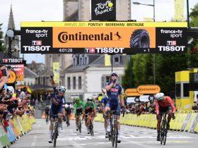 Merlier celebra su victoria (Foto: letour.fr)