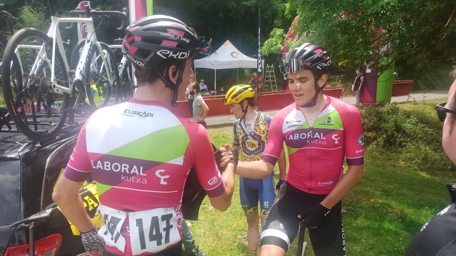 Iribar y Berasategi en Murgia. Foto Ciclismo ElPeloton