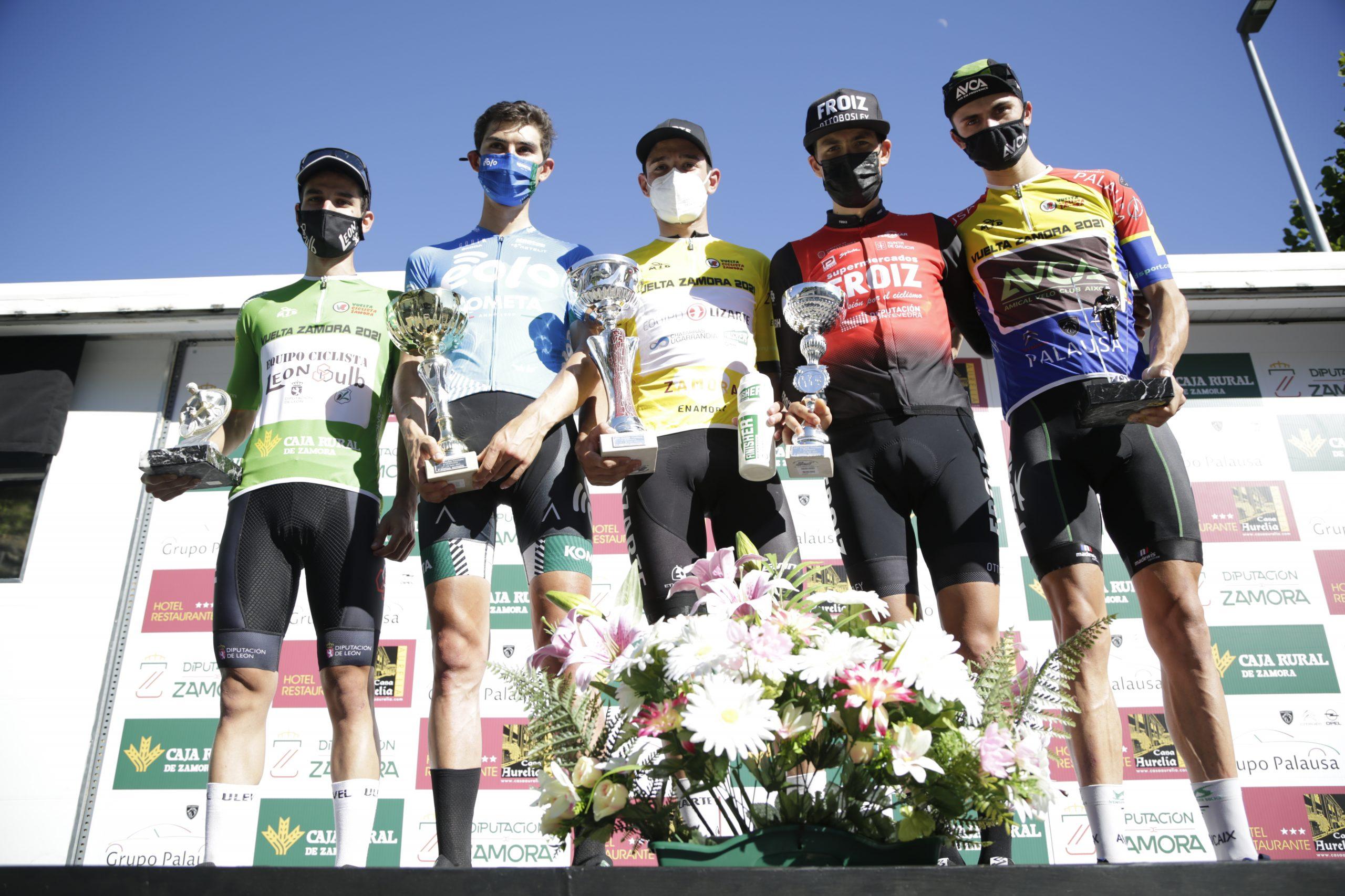 Protagonista del podium de la Vuelta a Zamora 2021 (Foto: Álvaro García-CDC Zamora-Ciclismo El Pelotón)