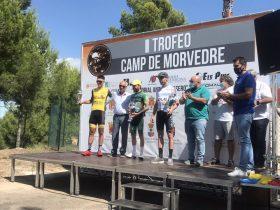 Podium del II Trofeo Camp de Morvedre con José David Martínez, Sergio Jiménez y José Luis Faura (Foto: @TMorvedre)